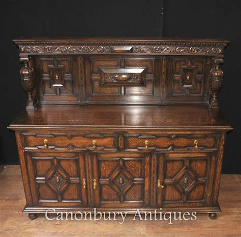 antique oak jacobean sideboard server buffet kitchen