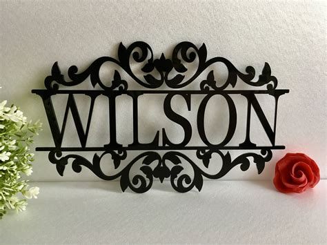 personalized   laser cut acrylic metal sign outdoor hanging family   monogram
