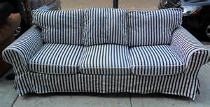 blue and white striped sofa thesofa