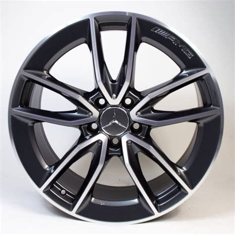 The build sheet said this car had the amg wheel package which puts 19 amg wheels on the car. AMG 19 inch 5-double-spoke rims Mercedes-Benz C-Class W205 C 43 AMG