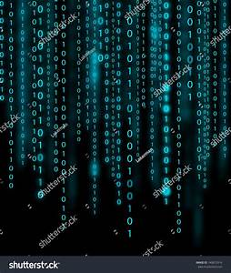 Abstract Blue Binary Code Background Stock Illustration ...