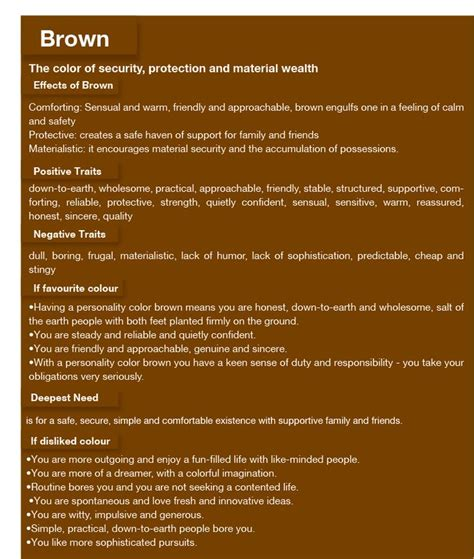 meaning of the color brown 17 best images about colour communicates on