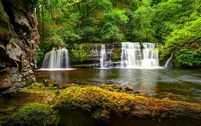 Desktop Waterfall Nature Contrast Cascading Wallpapers Background