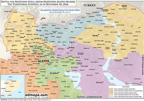 map update military situation  northern syria