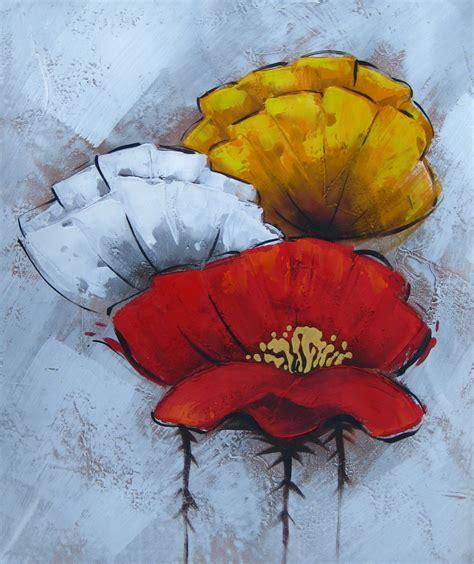 tableau peinture fleur contemporain 7