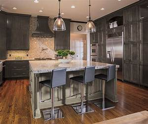 Casual Gray Kitchen Cabinets - Kitchen Craft Cabinetry
