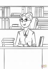 Coloring Librarian Pages Community Printable Drawing Helpers Puzzle Lena Paper sketch template