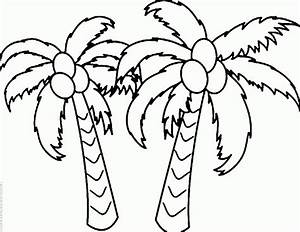 coloring pages tree page coconut palm coloring page With printable coconut tree template