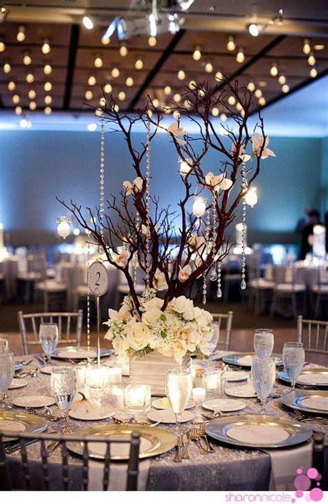 whimsical winter wonderland wedding centerpieces