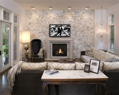Home Decor For Walls 59 cool living rooms with brick walls digsdigs