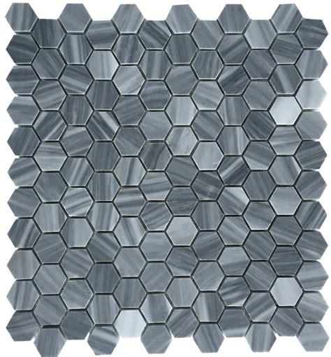 mosaic hexagon floor tile bardiglio gray honed 1 quot hexagon marble mosaic floor and wall tile
