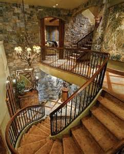 Stone and Wood Stairs