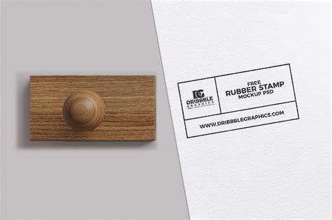 rubber stamp mockup psd