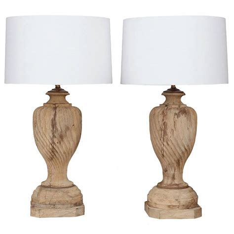 Table L Finials by Large Pair Of Vintage Carved Wooden Finial Ls For Sale