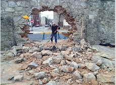 Car blasts hole in Girard College wall Philly