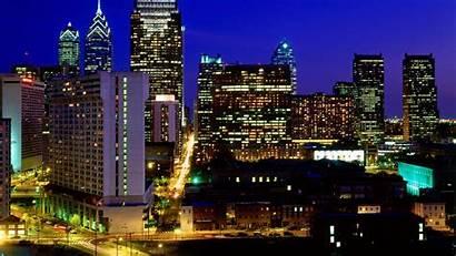 Skyline Philadelphia Philly Night Philidelphia Pennsylvania