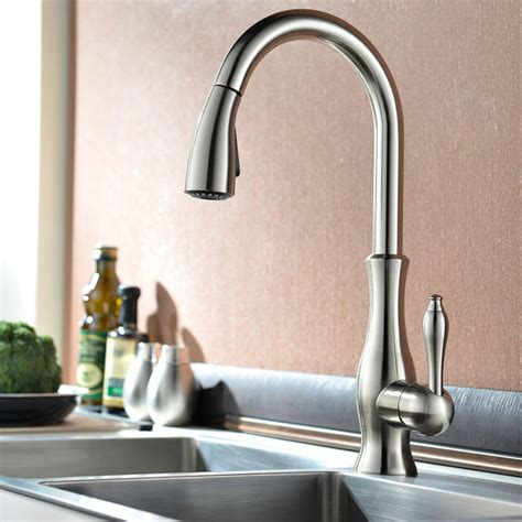 contemporary kitchen taps uk tracier swanneck monobloc kitchen mixer tap with pull out 5734
