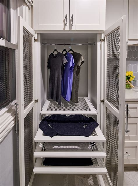 Drying Cupboards by Custom Drying Cabinet For Laundry Room Featuring Pullout