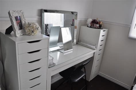 Makeup Desk Ikea Alex by Makeup By Cheryl Ikea Vanity Redecoration And Makeup Storage