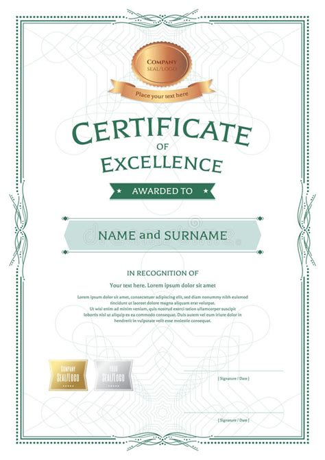 portrait certificate  appreciation template  award