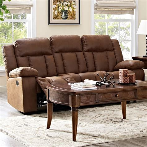 new classic casual dual reclining sofa with heavy