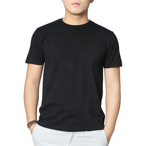 kaos neck neck plain black t shirt mens is shirt