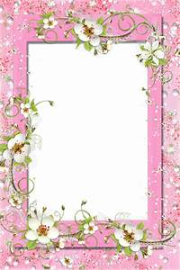Transparent Pink PNG Frame with Flowers | Photo Frames ...