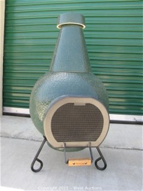 big green egg chiminea west auctions auction stove and backyard store in