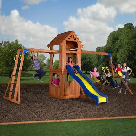 backyard swing sets walmart backyard discovery parkway wooden swing set walmart