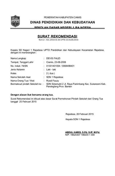 Contoh Format Surat Lamaran Kejaksaan Agung by Format Contoh Surat Dan Mutasi 2015 Copy