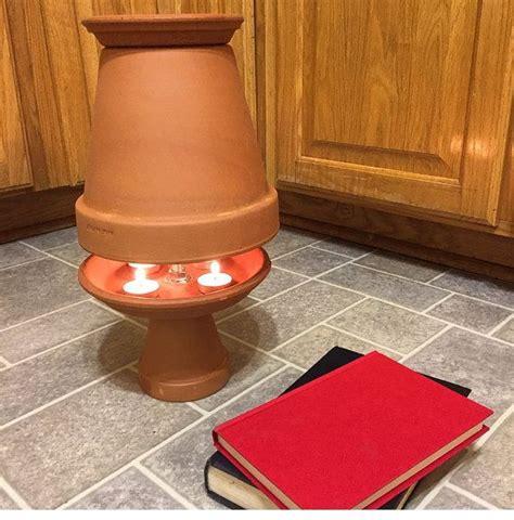 clay pot heater   decorative  natural