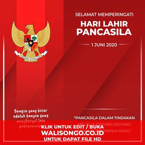 Hari lahir pancasila diperingati di antaranya karena d.n. Poster Hari Lahir Pancasila, Background Ucapan Terbaru yang Keren!
