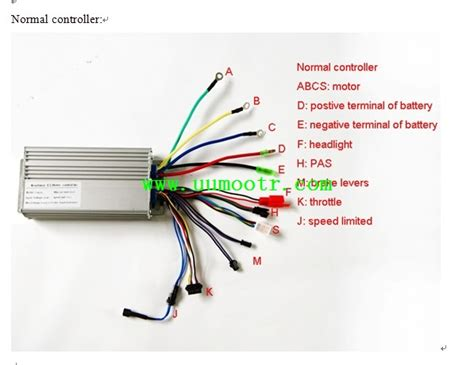electric bike controller wires illustration with led display or lcd display uu motor forum