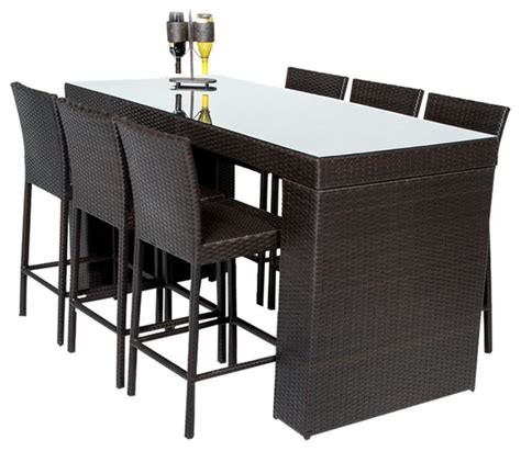 7 piece pub table set bar table set with barstools 7 piece outdoor wicker patio