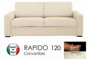 canape convertible rapido 120cm dreamer cuir eco beige With canapé convertible rapido cuir