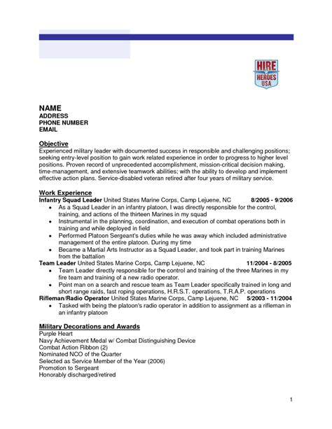 Marine Corps Infantry Resume Exles by 10 Army Infantry Resume Exles Riez Sle Resumes