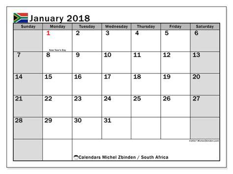 calendar january  south africa michel zbinden en