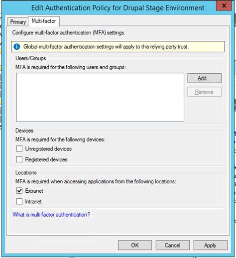 adfs authentication factor multi disabled users server succeeding via configuration screenshot