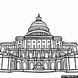 Capitol Famous Coloring Places Landmarks Hill Washington Pages States United Print Building Sheet Dc Buildings Colouring Landmark National Them Clipart sketch template