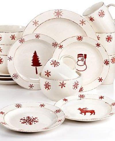 euroceramica dinnerware birchwood holiday 16 piece set