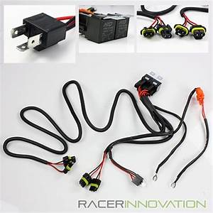 H4  9003 Hid Conversion Kit Dual Relay Wiring Harness Bi