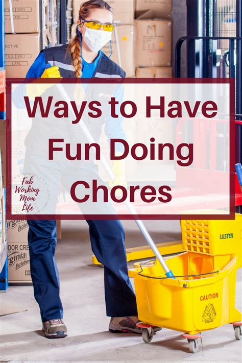 Ways To Have Fun While Doing Chores