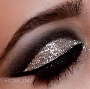 Silver glitter smokey eye.   Prom Hair & Makeup ...