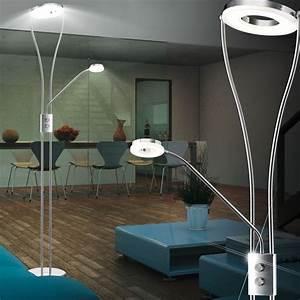Led Fluter Wohnzimmer : led 22 watt decken fluter steh lese leuchte wohnzimmer flexibler arm eek a flur ebay ~ Sanjose-hotels-ca.com Haus und Dekorationen