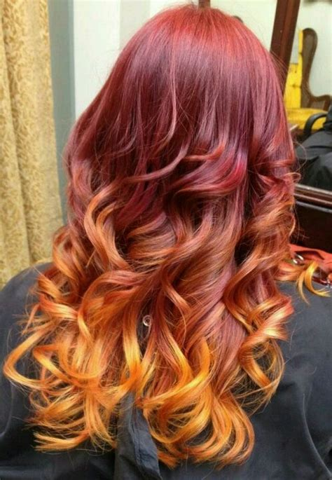 My New Hair Red Pink Orange And Yellow Ombre Goodness