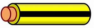 File Wire Yellow Black Stripe Svg