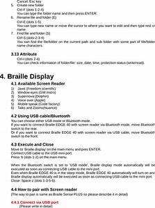 Hims B40k Braille Edge 40 User Manual Manual