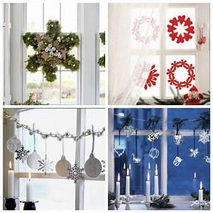 Noel deco vitre avec stickers guirlandes et couronnes for Deco chambre enfant avec comment remplacer une vitre de fenetre