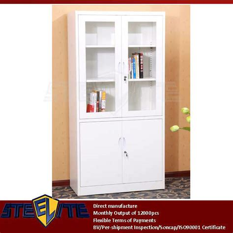 White Living Room Storage Furniture european style half height storage white cabinet with