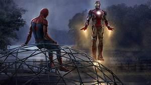 Wallpaper Iron Man, Spider